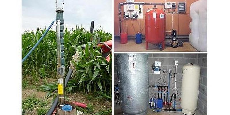 installation projet de captage d'eau