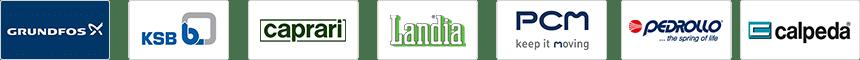 GRUNDFOS - KSB - CAPRARI - LANDIA - PCM - PEDROLLO - CALPEDA